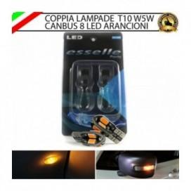 Coppia Lampade T10 W5W 8 LED per Frecce Laterali Toyota Yaris 1