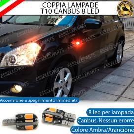 Coppia Lampade T10 W5W 8 LED per Frecce Laterali Nissan Qashqai I