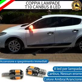 Coppia Lampade T10 W5W 8 LED per Frecce Laterali Renault Megane 3