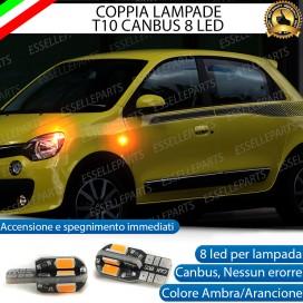 Coppia Lampade T10 W5W 8 LED per Frecce Laterali Renault Twingo 3