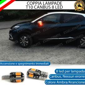 Coppia Lampade T10 W5W 8 LED per Frecce Laterali Renault Captur