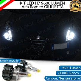 Kit Full LED 9600lm H7 Anabbaglianti