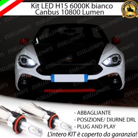 Kit LuciDiurne/Abbaglianti H15 10800 LUMENFIAT 124 SPIDER