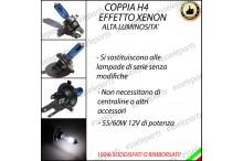 Lampade Effetto Xenon H4 Anabbaglianti/Abbaglianti