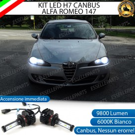 Kit Full LED H7 9800 LUMEN Anabbaglianti ALFA ROMEO 147 RESTYLING