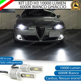 Kit Full LED H3 10000 Lumen Fendinebbia ALFA ROMEO 147 RESTYLING
