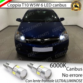 Luci posizione T10 W5W 6 LED Canbus Opel Astra (H)