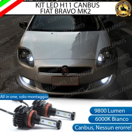 Kit Full LED Fendinebbia H11 9800 LUMEN per FIAT BRAVO II