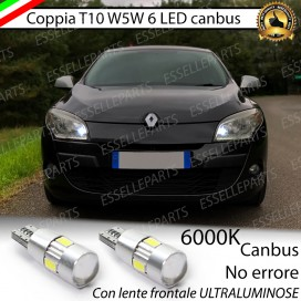 Luci posizione T10 W5W 6 LED Canbus Renault Megane 3