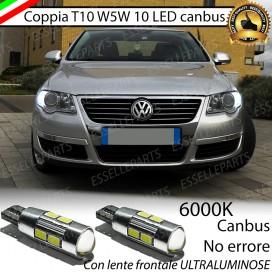 Luci posizione T10 W5W 10 LED Canbus Volkswagen Passat (B6)