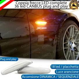 Placchette Dinamiche Laterali a 18 led per frecce specifiche per BMW SERIE 1 E81 E82 E87 E88