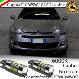 Luci posizione T10 W5W 10 LED Canbus