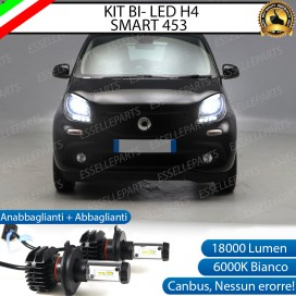 Kit Full LED H4 18000 LUMEN Anabbaglianti/Abbaglianti SMART FORTWO III