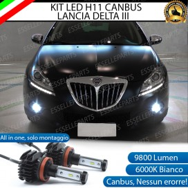 Kit Full LED Fendinebbia H11 9800 LUMEN per LANCIA DELTA III