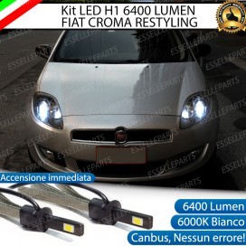 Kit Full LED H1 Anabbaglianti 6400 LUMEN FIAT CROMA