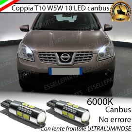 Luci posizione T10 W5W 10 LED Canbus Nissan Qashqai I