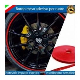 Bordo Rosso adesivo per ruote 124 Spider Abarth