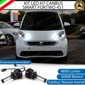 Kit Full LED H7 9800 LUMEN Abbaglianti SMART FORTWO II