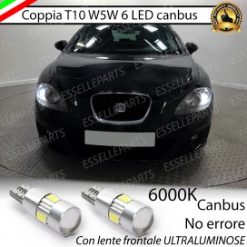 Luci posizione T10 W5W 6 LED Canbus Seat Leon 2 (1P)