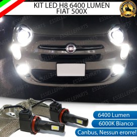 Kit Full LED H8 6400 LUMEN Fendinebbia FIAT 500X