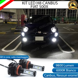 Kit Full LED H8 9800 LUMEN Fendinebbia per FIAT 500X