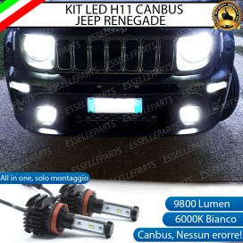 Kit Full LED Fendinebbia H11 9800 LUMEN per JEEP RENEGADE