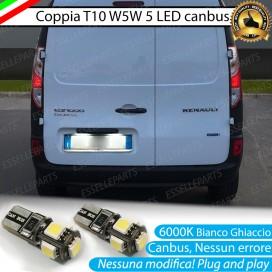 Luci Targa 5 LED Canbus 6000K per Renault Kangoo 2