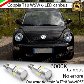 Luci posizione T10 W5W 6 LED Canbus Volkswagen New Beetle 1