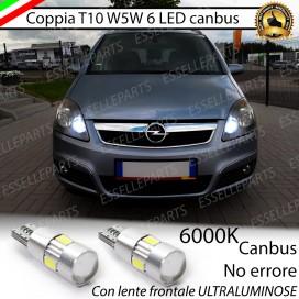 Luci posizione T10 W5W 6 LED Canbus Opel Zafira (B)