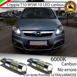 Luci posizione T10 W5W 10 LED Canbus Opel Zafira (B)