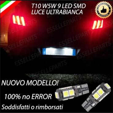 "/""PEUGEOT 508/"" NO ERRORS! COPPIA 2 LAMPADINE LED TARGA BIANCO GHIACCIO"
