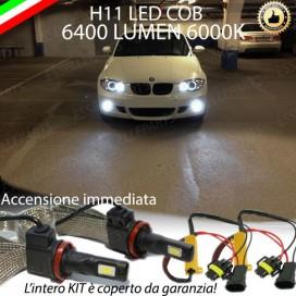 Kit Full LED H11 Fendinebbia 6400 lumen BMW SERIE 1 E81 E82 E87 E88