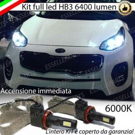 KitFull LED HB3 6400 LUMEN HB3 6400 LUMEN Anabbaglianti/Abbaglianti KIASPORTAGE IV
