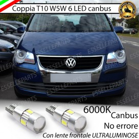 Luci posizione T10 W5W 6 LED Canbus Volkswagen Touran (V2)