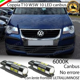 Luci posizione T10 W5W 10 LED Canbus Volkswagen Touran (V2)