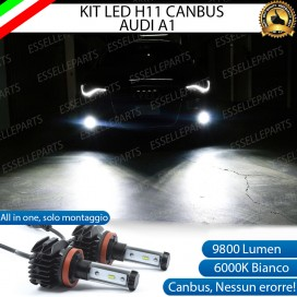 Kit Full LED Fendinebbia H11 9800 LUMEN per AUDI A1 PRE-RESTYLING