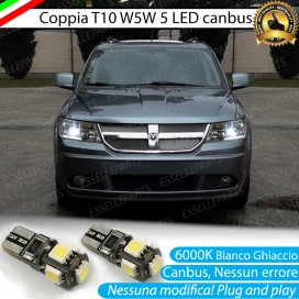 Luci posizione T10 W5W 5 LED Canbus Dodge Journey