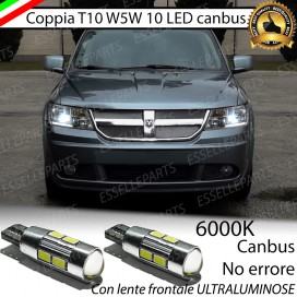 Luci posizione T10 W5W 10 LED Canbus Dodge Journey