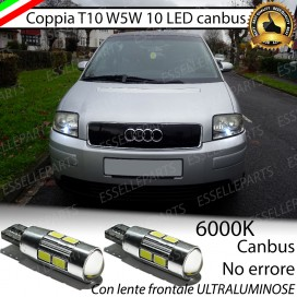 Luci posizione T10 W5W 10 LED Canbus Audi A2