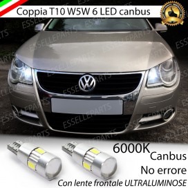 Luci posizione T10 W5W 6 LED Canbus Volkswagen EOS 1