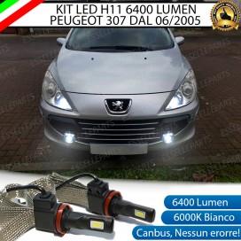 KitFull LEDFendinebbia H11 6400 LUMENPEUGEOT 307