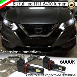 KitFull LED Anabbaglianti H11 6400 LUMENNISSANQASHQAI IIRestyling