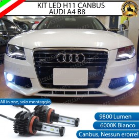 Kit Full LED Fendinebbia H11 9800 LUMEN per AUDI A4 B8 PRE-RESTYLING