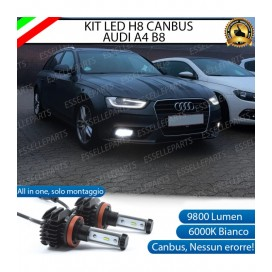 Kit Full LED H8 9800 LUMEN Fendinebbia per AUDI A4 B8 RESTYLING