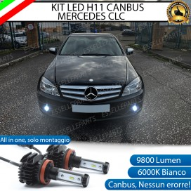 Kit Full LED H11 Fendinebbia 9800 LUMEN MERCEDES CLC