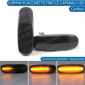 Placchette Dinamiche Nere Laterali a 21 led per frecce specifiche per Fiat PUNTO EVO