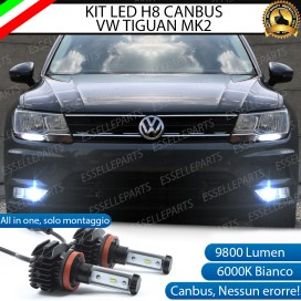 Kit Full LED H8 9800 LUMEN Fendinebbia per VW TIGUAN II