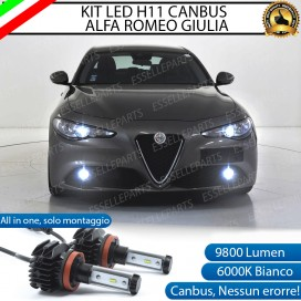 KitFull LEDFendinebbia H11 9800 LUMEN perALFA ROMEO GIULIA