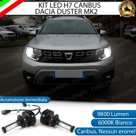 Kit Full LED H7 9800 LUMEN Anabbaglianti DACIA DUSTER II