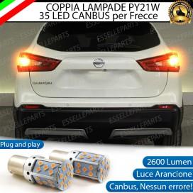 Coppia Frecce Posteriori PY21W 35 LED Canbus NISSAN QASHQAI II PRE-RESTYLING